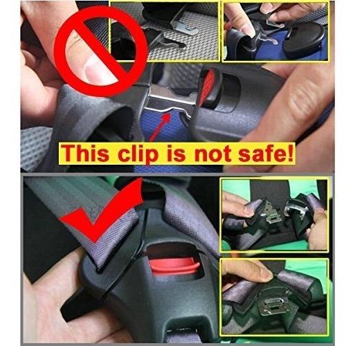 Asiento de coche cinturón superliviano-Clips par NUEVO