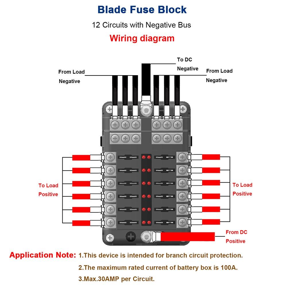 Universal Car Blade Fuse Box Automotor Circuito Block Auto