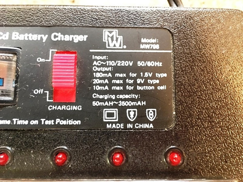 universal cargador de baterias ni-cd