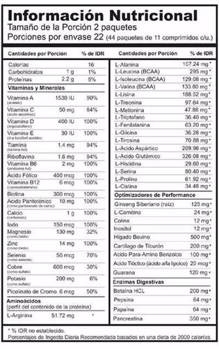 universal nutrition animal pak x44 vitaminico c/ aminoacidos