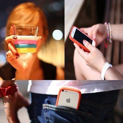 universal suave silicona fluorescente protectora teléfono