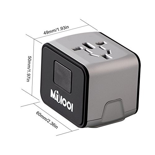 universal world travel adapter con 2.4a puertos usb dual par