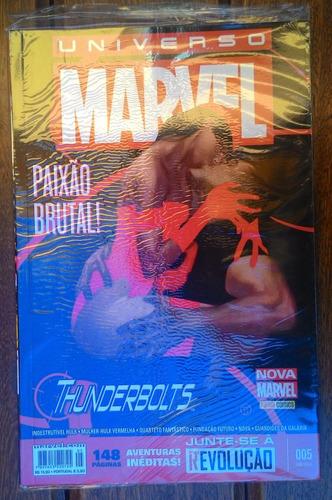 universo marvel nº 05 - paixão brutal thunderbolts (lacrado)