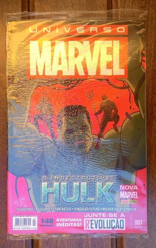 universo marvel nº 07 - o indestrutível hulk (lacrado)