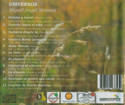 universos - miguel angel sirianni cd