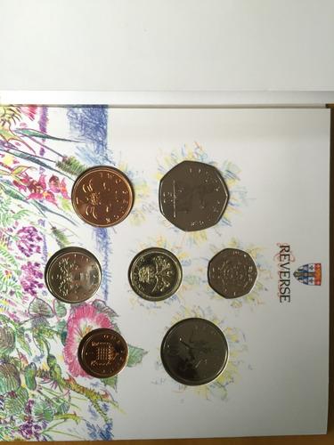 unk-s10 set 7 monedas gran bretaña 1989 unc-bu ayff