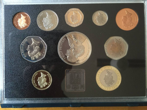 unk-s29 set 10 monedas gran bretaña 1997 proof ayff
