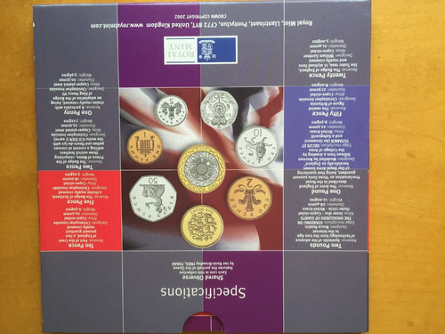 unk-s41 set 8 monedas gran bretaña 2002 unc-bu ayff