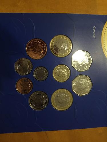unk-s44 set 10 monedas gran bretaña 2003 unc-bu ayff