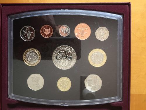 unk-s47 set 11 monedas gran bretaña 2003 proof ayff