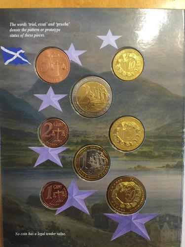 unk-s49 set 8 monedas gran bretaña 2003 pattern prueba ayff