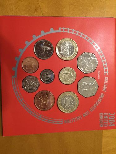 unk-s50 set 10 monedas gran bretaña 2004 unc-bu ayff