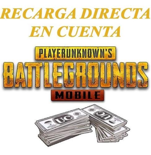 unknown cash pubg mobile - recarga directa