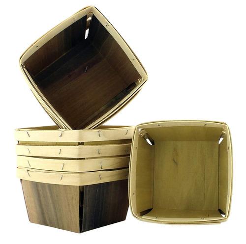 uno cuarto de galón de madera baya cestas (8 paquete ); 5.5