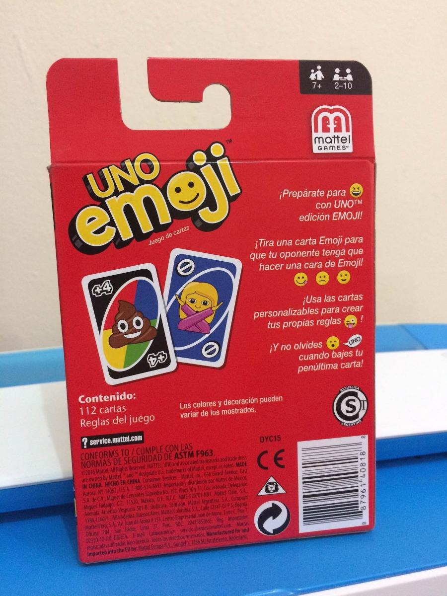 Uno Emoji Juego De Cartas 193 99 En Mercado Libre