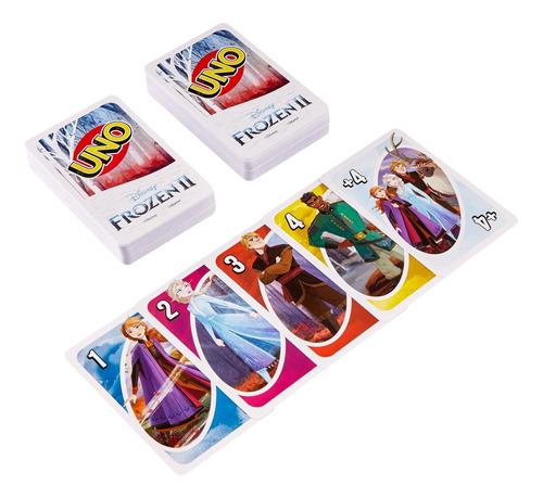 uno frozen, juego de cartas para jugar con familia y amigos