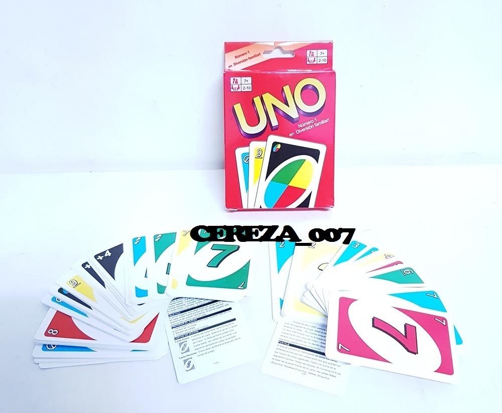Uno Juego Uno 108 Cartas Naipes Juegos De Mesa 2 A 10 Person 99