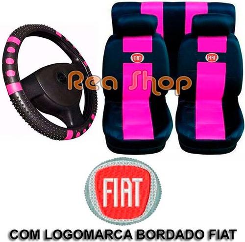 uno m fire jogo capas bancos carro fiat + capa volante rosa