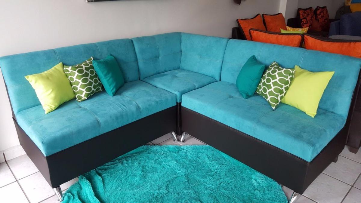 Uno muebles sala econ mica cojines gratis modelo turquesa for Muebles de sala ibague