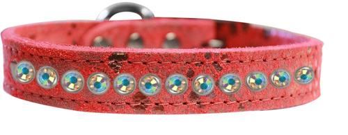uno row ab cristal jeweled dragón piel collar perro cuero g