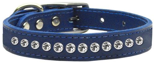uno row clear jeweled cuero azul 12