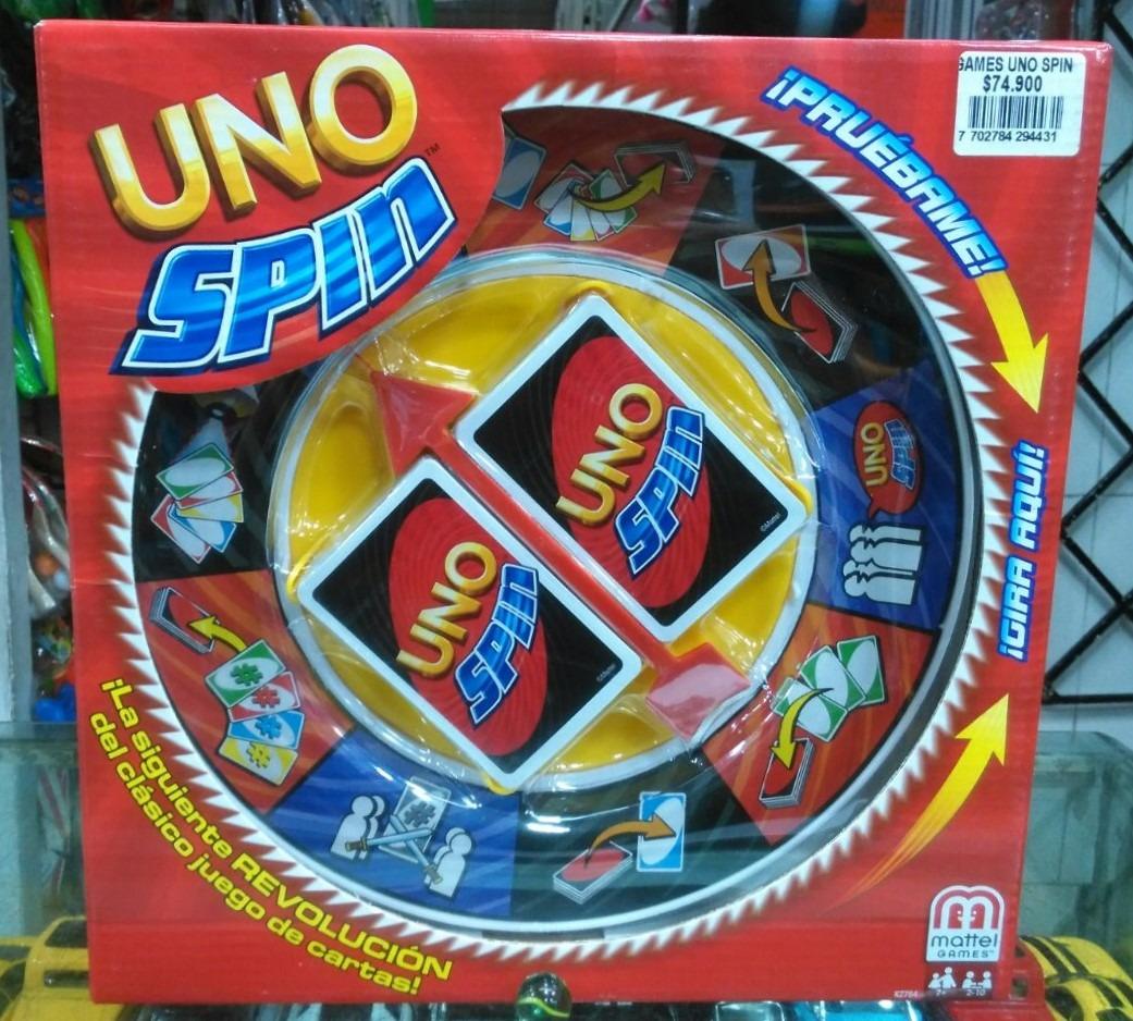 Uno Spin Juego De Mesa Cartas K2784 Mattel 74 900 En Mercado