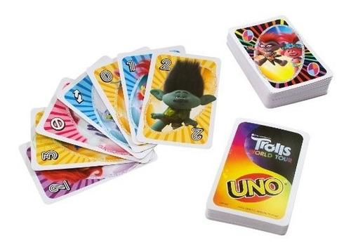 uno trolls world tour juego de cartas