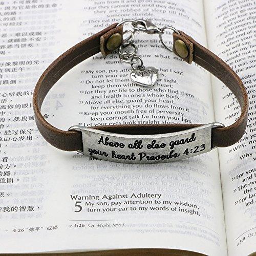 3b20c406e9d5 Unqjry Pulseras Verso Biblia Mujeres Pulsera Cuero Vendi -   101.512 ...