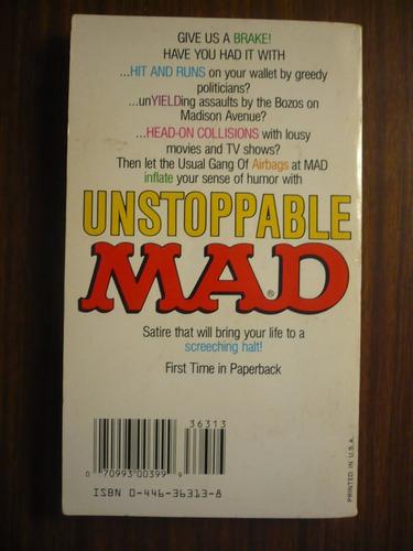 unstoppable mad (primera edición de libro de bolsillo) 1992