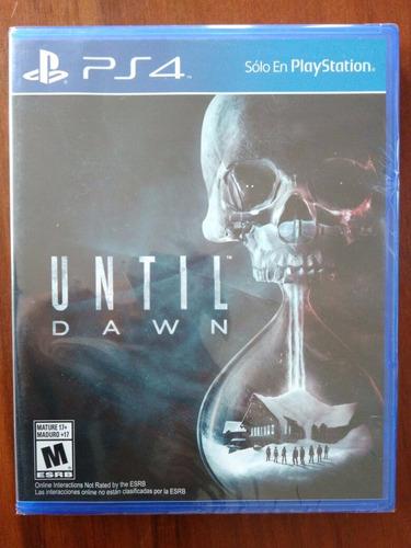 until dawn juego ps4 nuevo y sellado en español