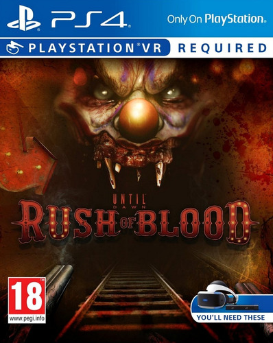 until dawn: rush of blood playstation vr ps4