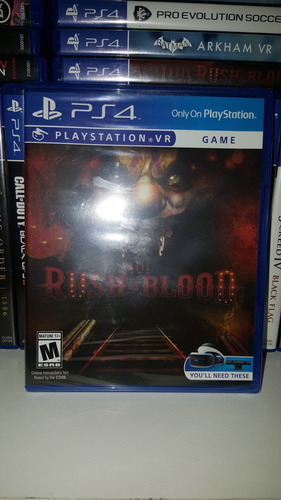 until dawn rush of blood ps4 nuevo sellado stck vr original.