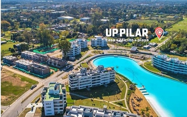 up pilar duplex 2 dormitorios + laguna cristalina + playa