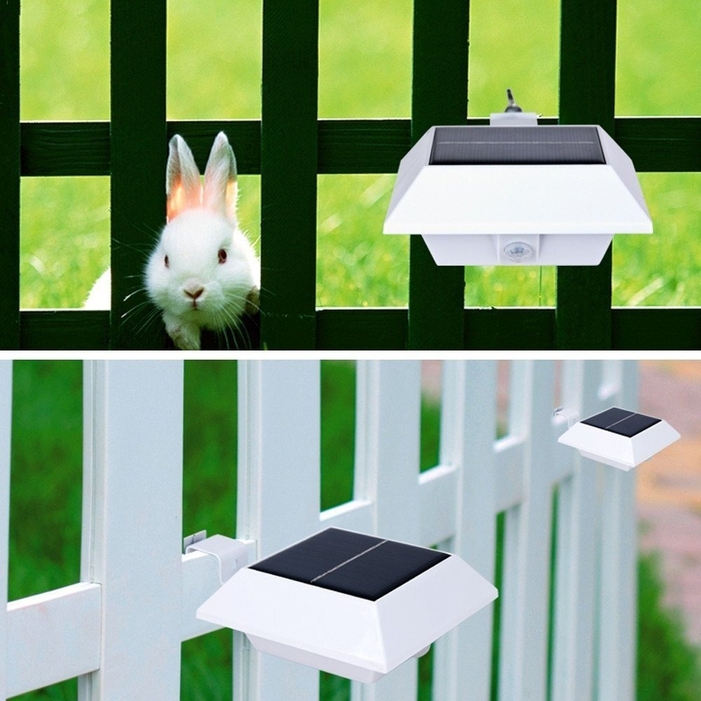 [upgrade Pir Sensor]hkyh 4 Pack Solar Motion Sensor Security