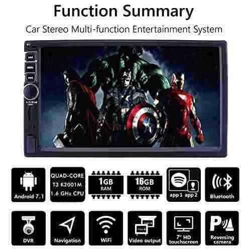 Upgraded 7 Inch Touch Screen Android 7 1 Quadcore Cpu Double