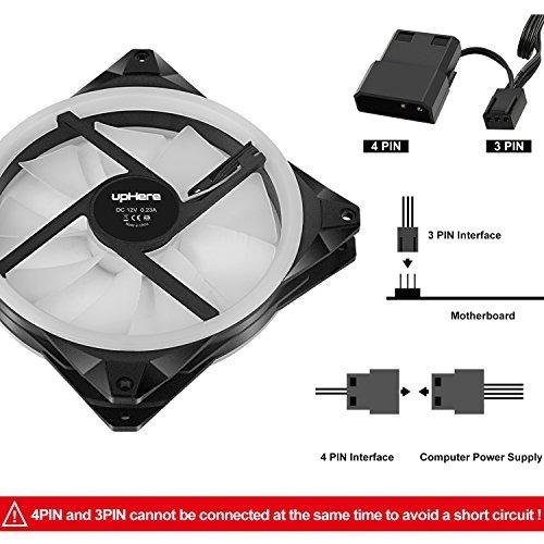 uphere halo ring led 140mm ventilador de caja 5 pack hidráu