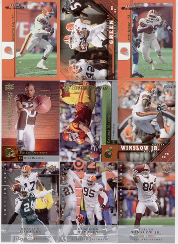 upper deck lote de tarjetas cleveland browns desde 2005