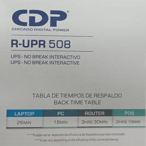 ups 500 va 500va 250 w cdp 8 tomas 4 ups y 4 avr  r-upr508