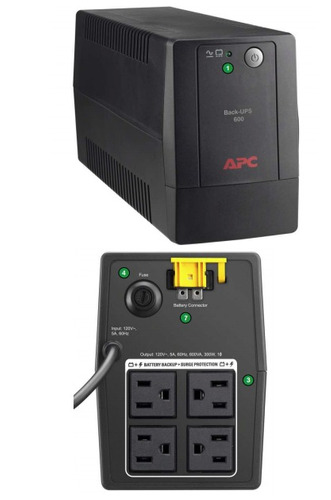 ups apc back bx600l-lm 600 va 300 watts (gadroves)