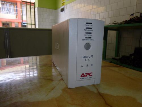 ups apc back-ups cs 650 (incluye batería)