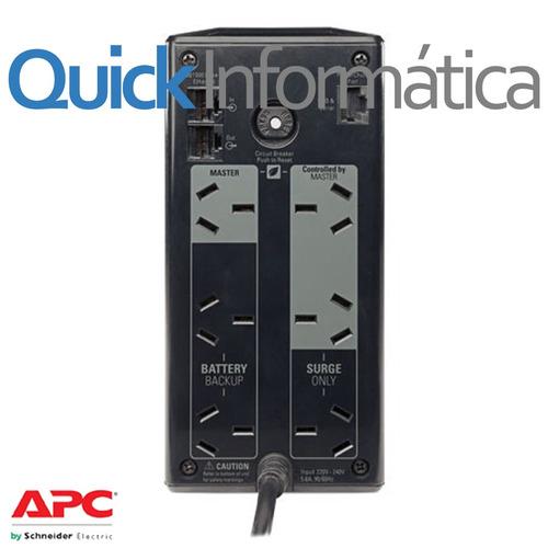 ups apc br550g 550va c/ estabilizador p/ pc gtia 2 años br55
