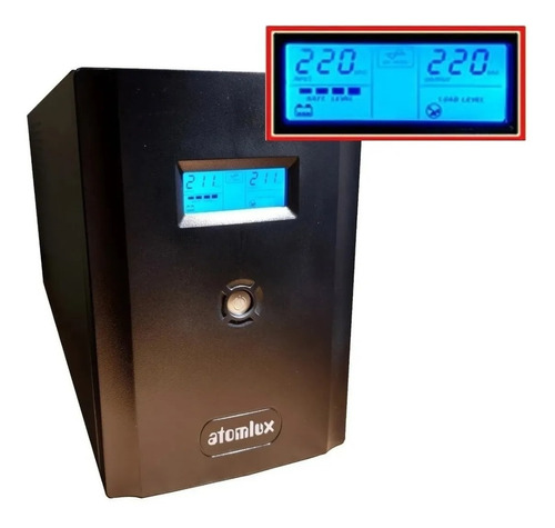 ups atomlux 3500va estabilizador 6 salidas soft de apagado