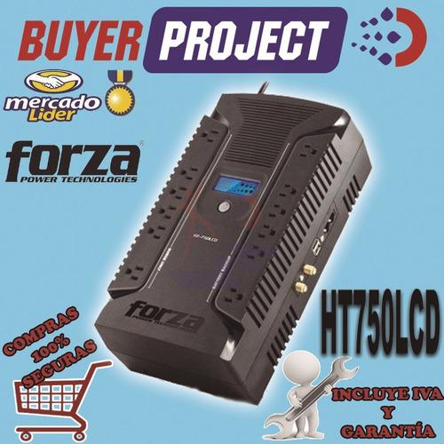 ups con regulador forza ht-750lcd 750va 375w 12 tomas 120v