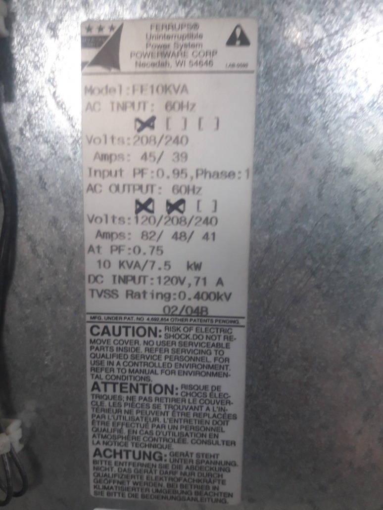 ups de 10 kva  la vendo  para el q desee dar mantenimiento