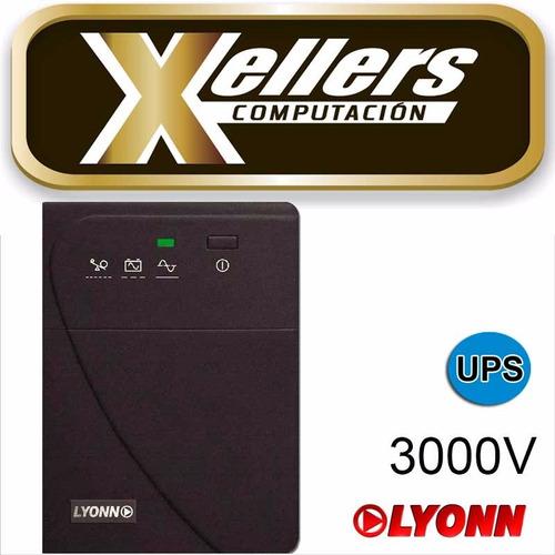 ups + estabilizador lyonn  ctb 3000v 3000va 1800 w + soft