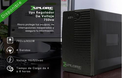 ups explore power 750va 4 tomas backup regulador d vol luz x