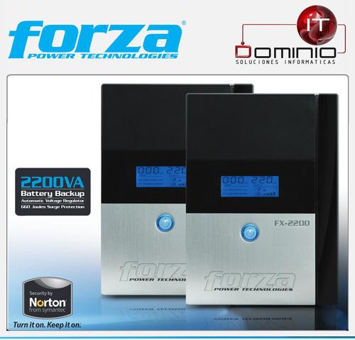 ups forza fx-2200 regulador voltaje 2200va 1200w 4 out 220v