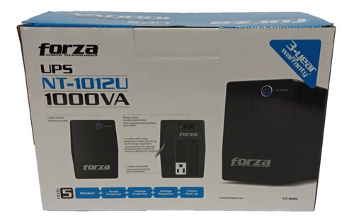 ups forza nt-1012u 1000va 500w 220v nuevo sellado original