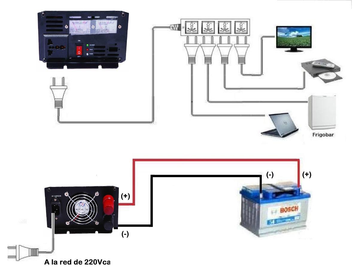 Circuito Ups 12v : Ups inversor w pico w v v cargador a