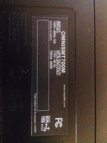 ups omnismt700m tripp-lite 750va 450w batería nueva